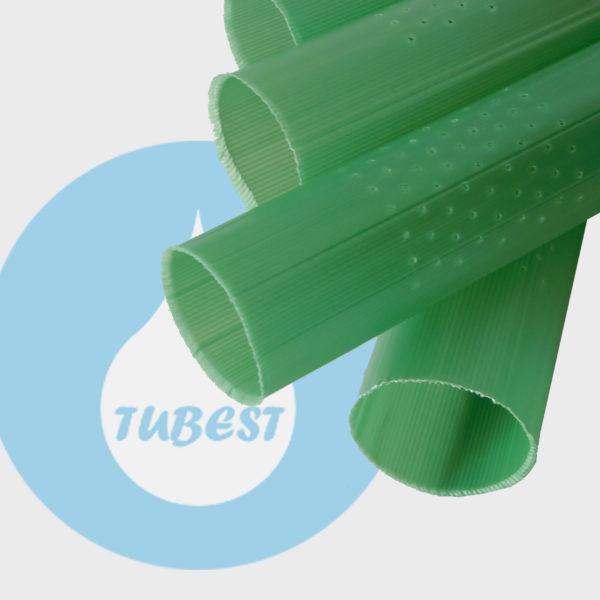 tubo protector planta perforado